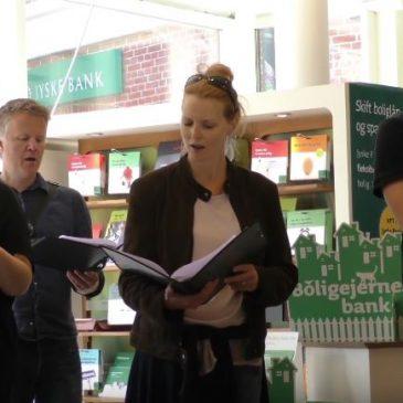 DR VokalEnsemblet`s pop-up koncert i Jyskebank