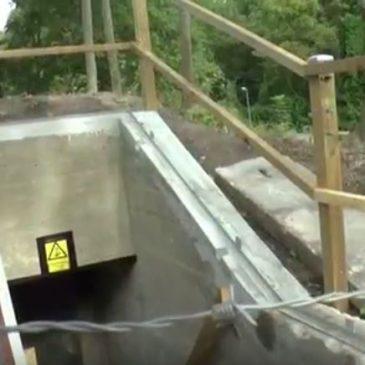 Åbning af bunker