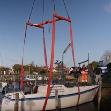Søsætning af bådene i Rosnæs bådelaug 2017