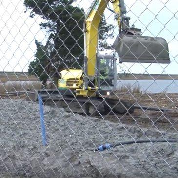 Strandholmsø tømmes for vand
